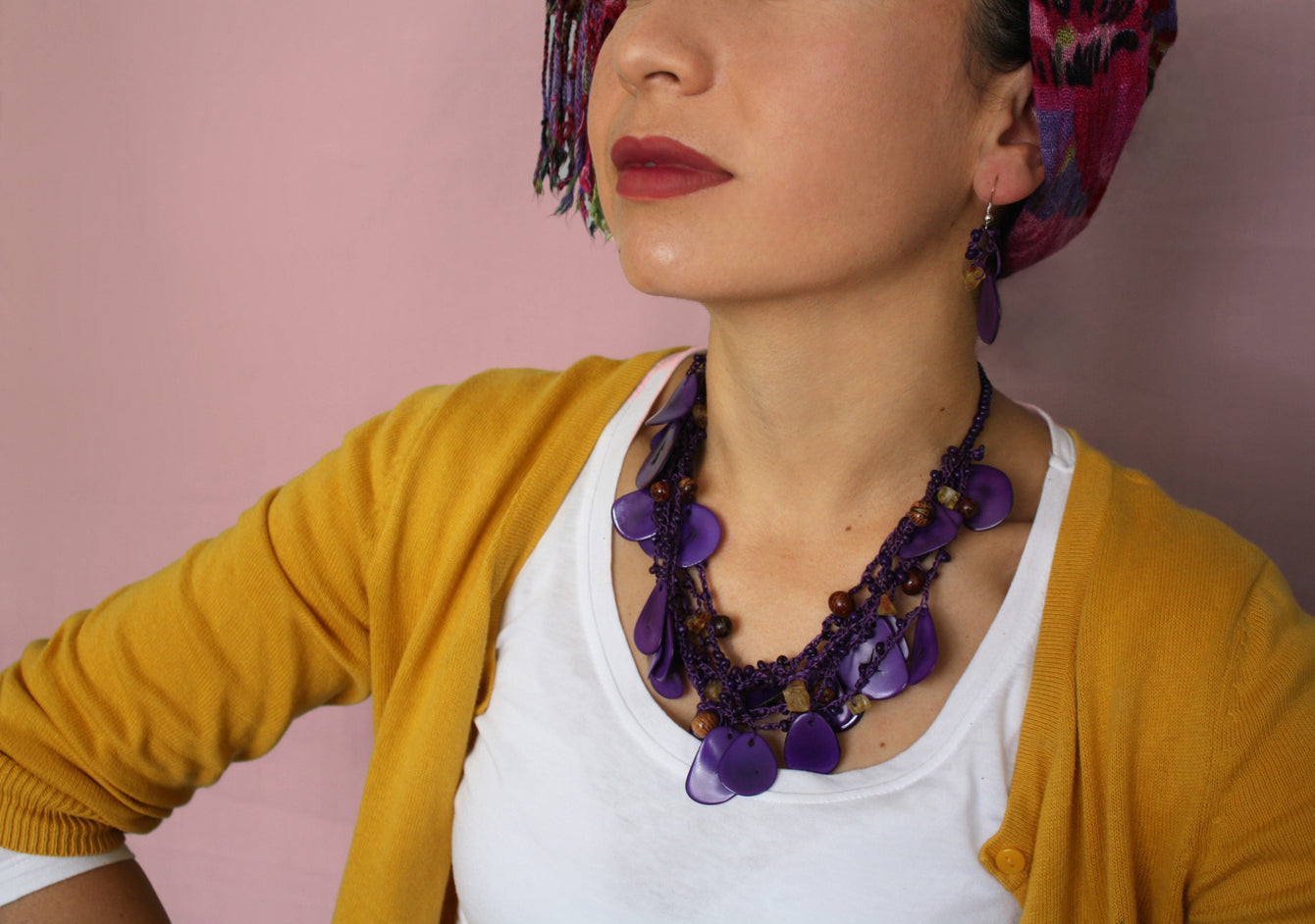 Purple Chunky Necklace