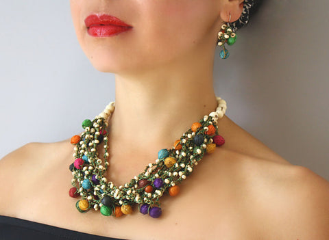 Multicolour Seed Necklace