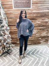 Load image into Gallery viewer, Gunmetal Chenille Sweater