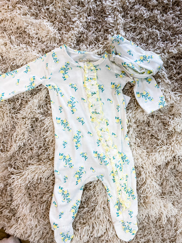 Lemon Yellow Floral Sleeper