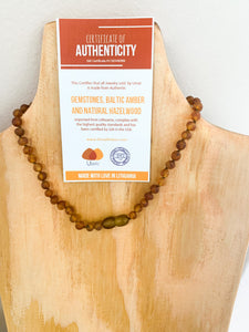Solid Amber Teething Necklace