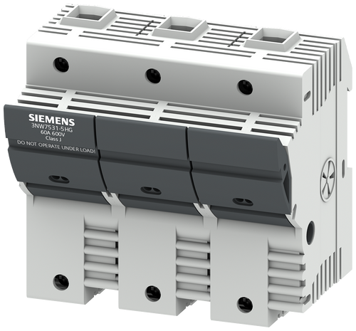 SENTRON, fuse holder, class J, 3-pole, In: 60 A, Un AC: 600 V, mounting- 3NW7531-5HG