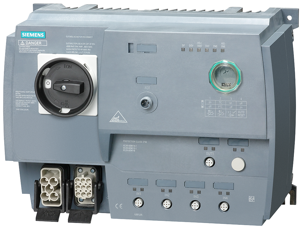 SIRIUS Motor starter M200D AS-Interface communication:- 3RK1315-6LS41-1AA3