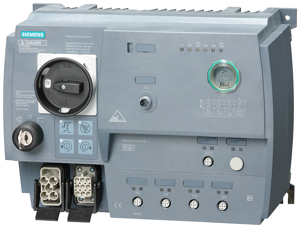 SIRIUS Motor starter M200D AS-Interface communication:- 3RK1315-6KS41-3AA5