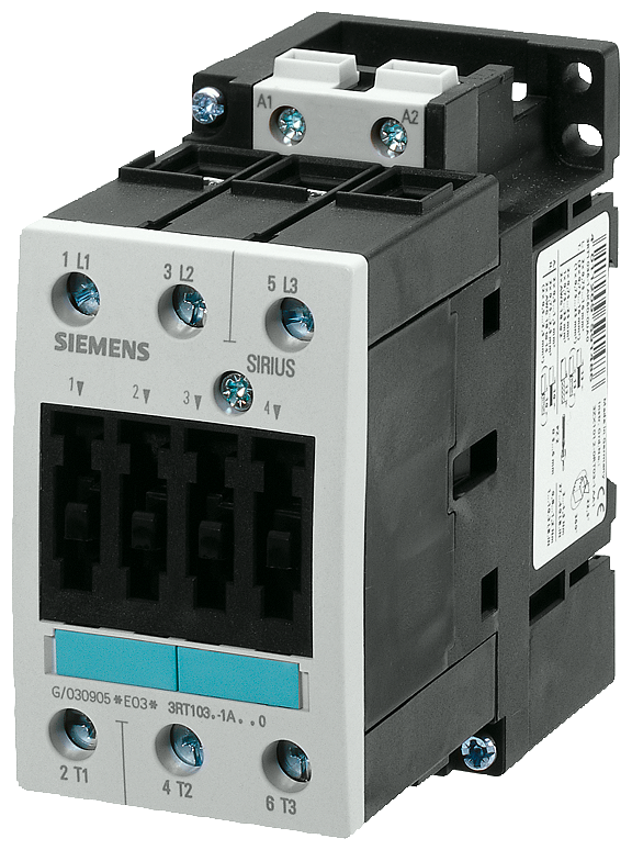 Power contactor, AC-3 50 A, 22 kW / 400 V 230 V AC, 50 Hz,- 3RT1036-1AP00-1AA0