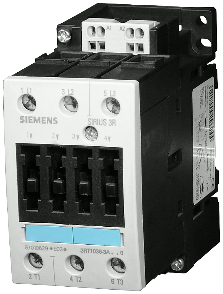 Power contactor, AC-3 40 A, 18.5 kW / 400 V 48 V AC, 50 Hz, 3-pole,- 3RT1035-3AH00