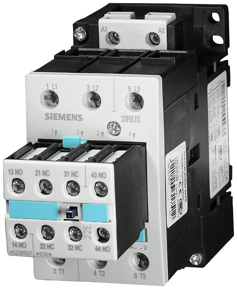 Power contactor, AC-3 32 A, 15 kW / 400 V 110 V AC, 50/60 Hz 2 NO + 2- 3RT1034-1AG24
