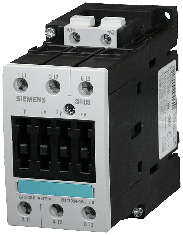 Power contactor, AC-3 40 A, 18.5 kW / 400 V 24 V DC, 3-pole, Size S2,- 3RT1035-1BB40