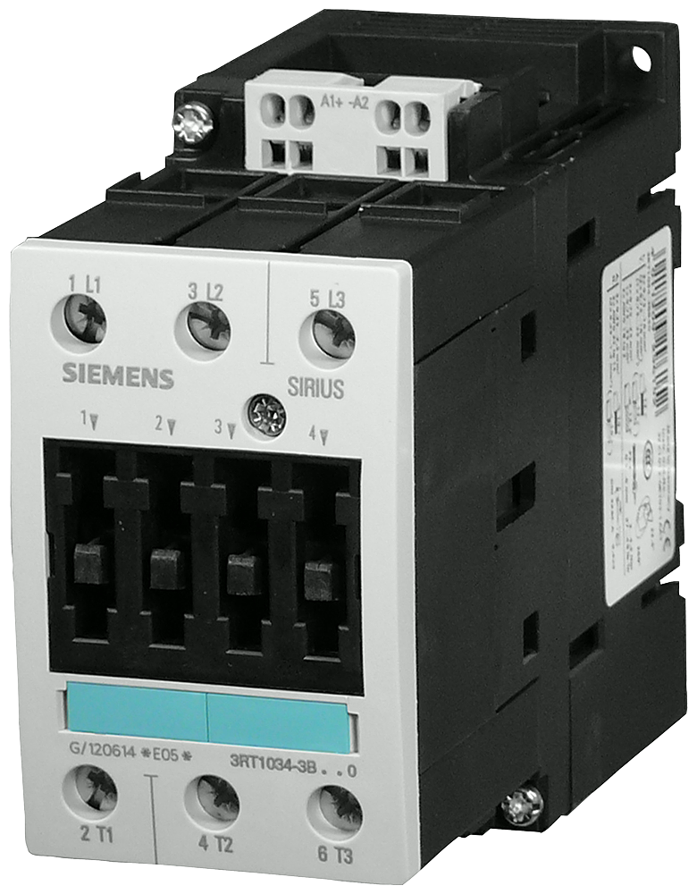 Power contactor, AC-3 50 A, 22 kW / 400 V 48 V DC, 3-pole, Size S2,- 3RT1036-3BW40