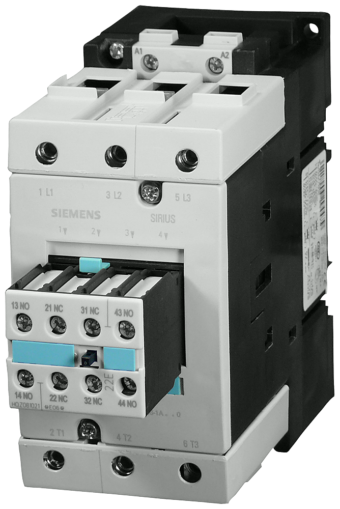 Power contactor, AC-3 80 A, 37 kW / 400 V 42 V AC, 50 Hz, 2 NO + 2 NC- 3RT1045-1AD04