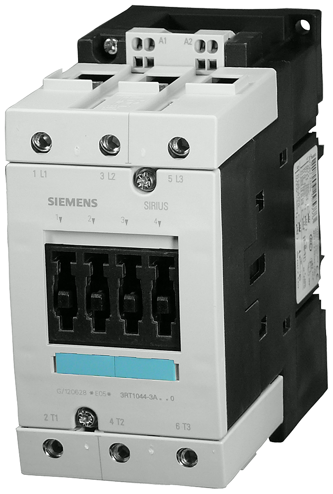 Power contactor, AC-3 80 A, 37 kW / 400 V 480 V AC, 60 Hz 3-pole,- 3RT1045-3AV60