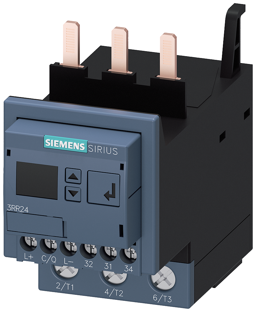 Current monitoring relay for IO-Link, attachable to contactor 3RT2,- 3RR2443-1AA40