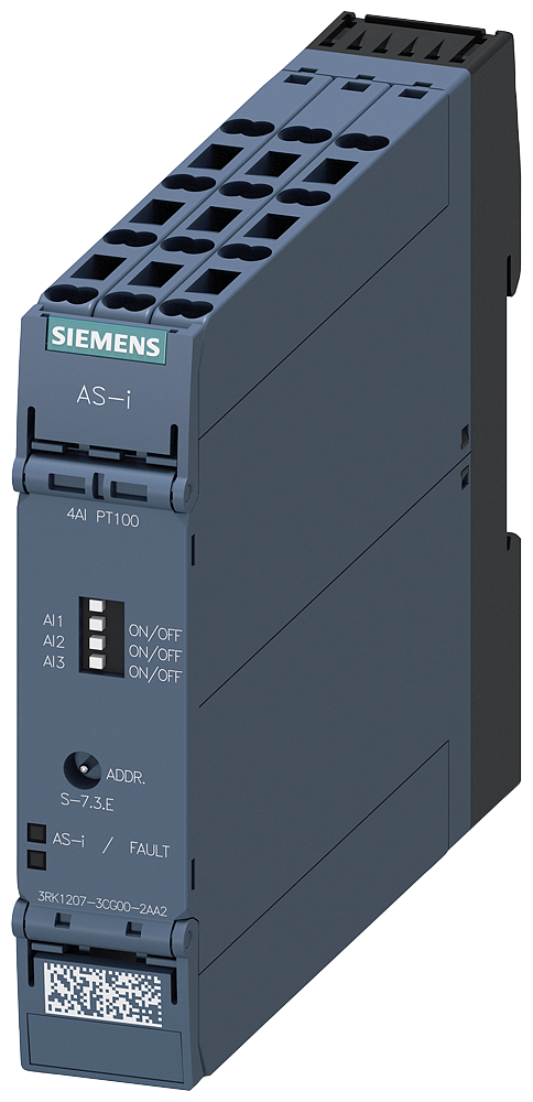 AS-i SlimLine Compact module SC22.5, IP20, 4 AI RTD spring-type- 3RK1207-3CG00-2AA2