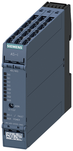 AS-i SlimLine Compact module SC22.5 digital 4DI/4DQ, IP20, screw- 3RK1400-2CE00-2AA2