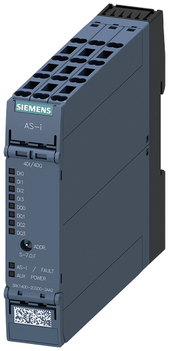 AS-i SlimLine Compact module SC22.5 digital 4DI/4DQ, IP20,- 3RK1400-2CG00-2AA2