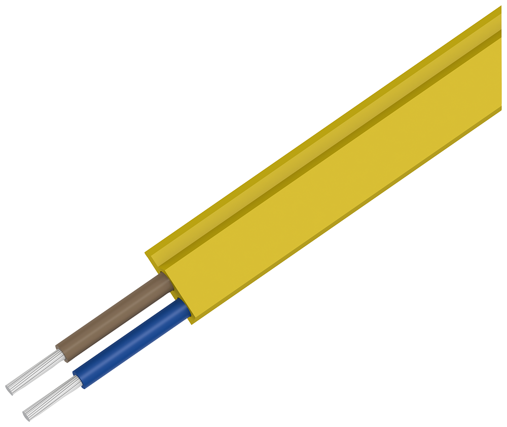AS-i cable, shaped yellow, TPE, oil-resistant, 2x1.5 mm2, 100 m of- 3RX9013-0AA00