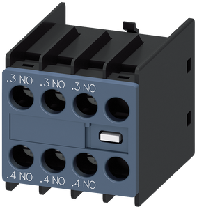 Auxiliary switch block 3 NO current paths: 1 NO, 1 NO for contactor- 3RH2911-1HA30