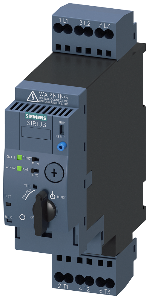 SIRIUS compact load feeder direct on-line starter 400 V, 24 V AC/DC,- 3RA6120-2EB34