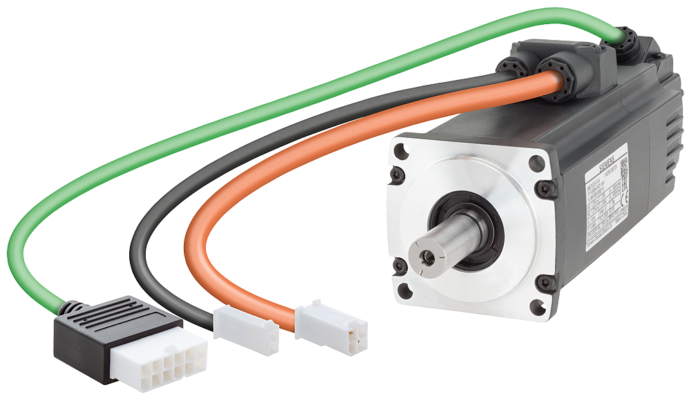 SIMOTICS S-1FL6 Operating voltage 230 V 3AC Pn=0.2 kW  Nn=3000 rpm M0=0.64 Nm  MN=0.64 Nm  Shaft height 30 mm Incremental encoder TTL 2500 incr./rev. motor - 1FL6032-2AF21-1AB1