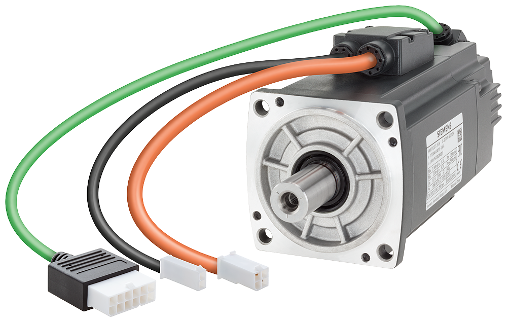 SIMOTICS S-1FL6 Operating voltage 230 V 3AC Pn=0.75 kW  Nn=3000 rpm M0=2.39 Nm  MN=2.39 Nm Shaft height 40 mm Incremental encoder TTL 2500 incr./rev. motor - 1FL6042-2AF21-1AH1