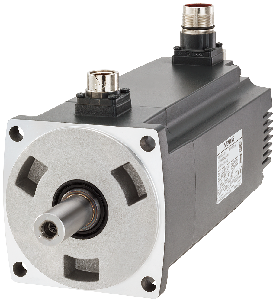 SIMOTICS S-1FL6 Operating voltage 230 V 3AC PN=2 kW  NN=3000 rpm M0=6.37 Nm  MN=6.37 Nm shaft he 50 mm with angle plug encoder incremental TTL 2500 in motor - 1FL6054-2AF21-2AB1