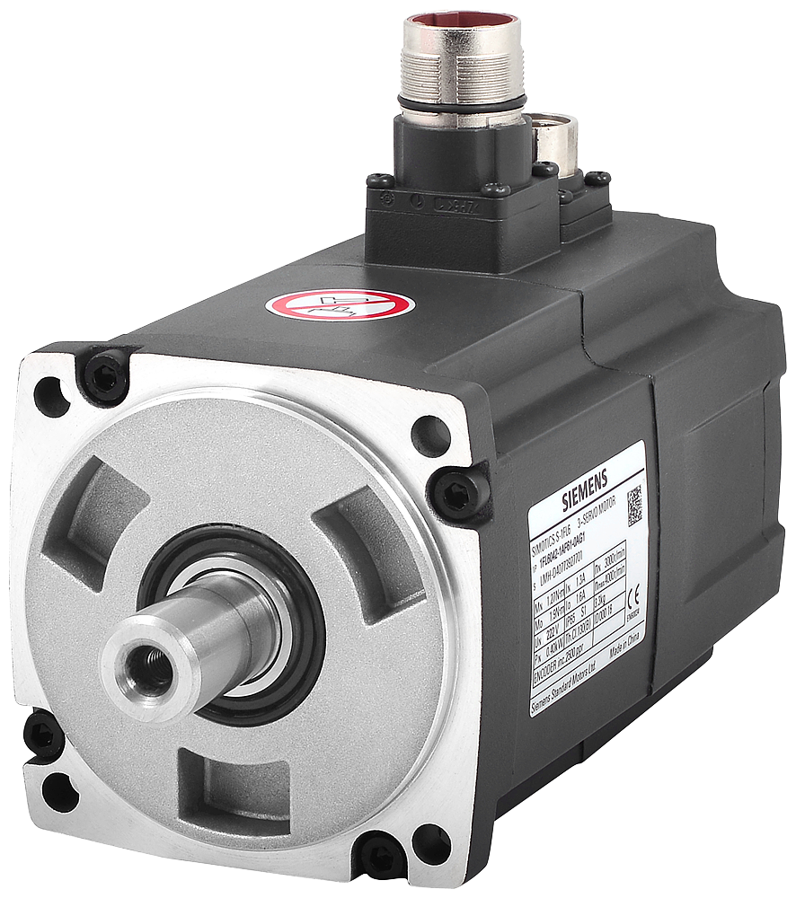 SIMOTICS S-1FL6 Operating voltage 3AC 400 V Pn=0.4 kW  Nn=3000 rpm M0=1.9 Nm  MN=1.27 Nm Shaft height 45 mm Incremental encoder TTL 2500 incr./rev. wi motor - 1FL6042-1AF61-0AA1