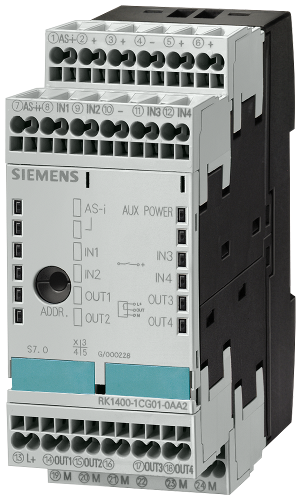 AS-i SlimLine module Phased-out product !!! For further- 3RK1402-3CG00-0AA2