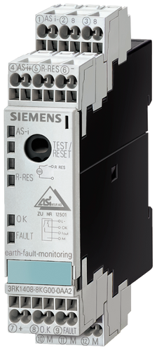 AS-i SlimLine module S22.5, ground-fault monitoring, IP20, 1x1- 3RK1408-8KG00-0AA2
