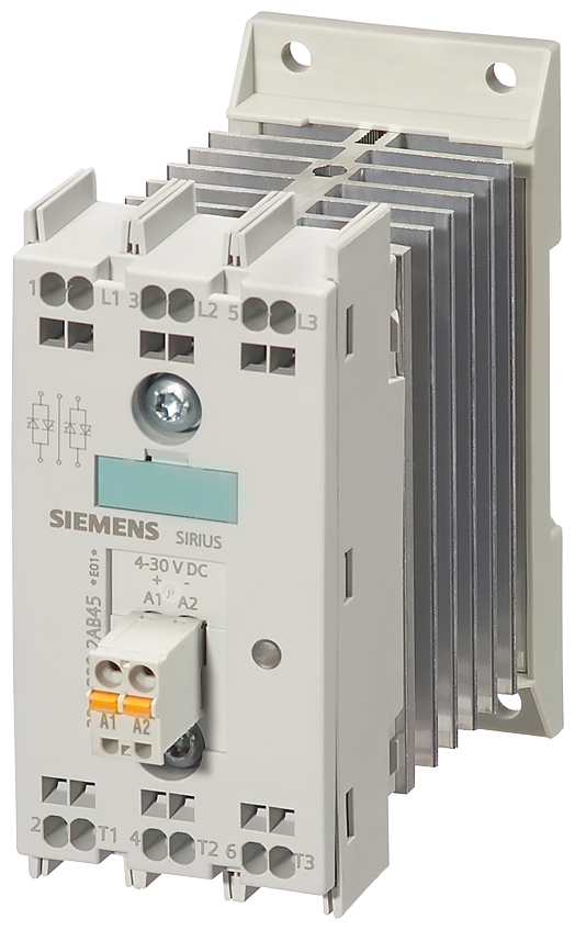 Solid-state contactor 2RF2, 3-ph. AC51 10 A 48-600 V/4-30 V DC- 3RF2410-2AC45