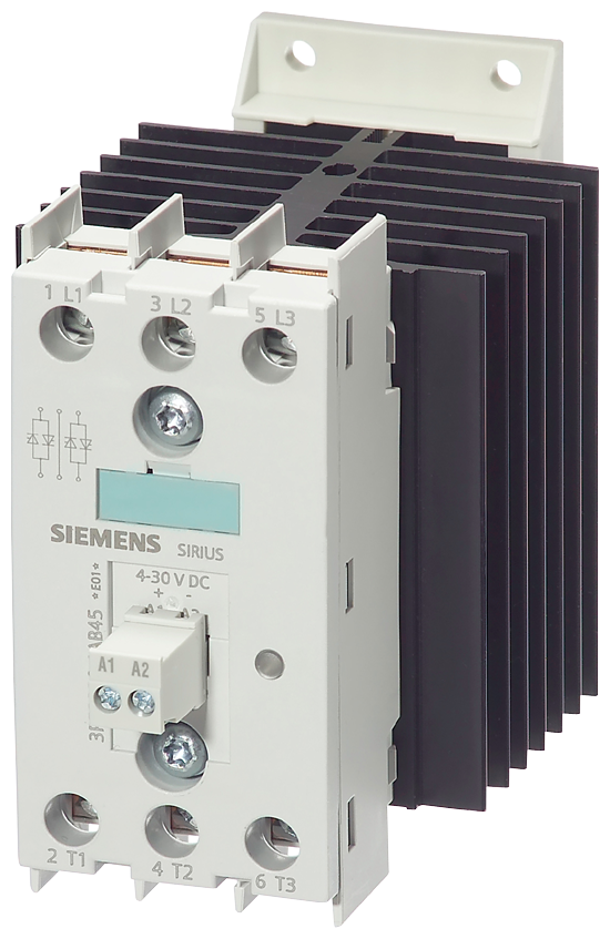 Solid-state contactor 2RF2, 3-ph. AC51 20 A 48-600 V/110 V AC 2-phase- 3RF2420-1AB35