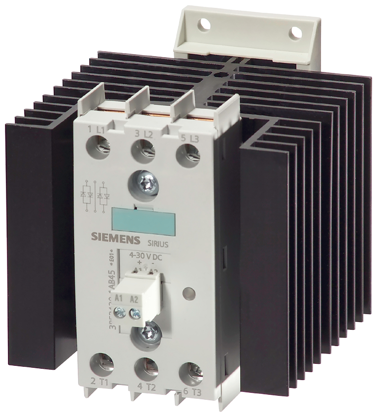 Solid-state contactor 2RF2, 3-ph. AC51 30 A 48-600 V/4-30 V DC- 3RF2430-1AB45