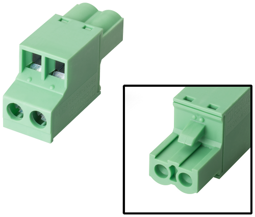 Female connector, 2-pin, type 1 2-pin connector, female Grid- 6AV6671-8XA00-0AX0