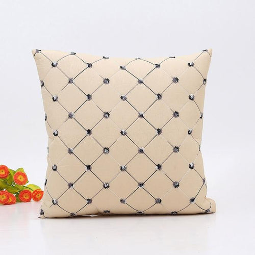 Home Sofa Bed Decor Plaids Throw Pillow Case Square Cushion Cover - Unique Craft World & Dist