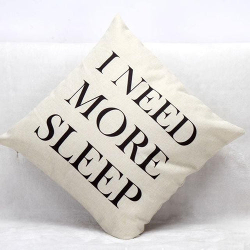 Letters Sofa Bed Home Decoration Festival Pillow Case Cushion Cover - Unique Craft World & Dist