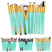 Load image into Gallery viewer, 20 pcs Makeup Brush Set tools Make-up Toiletry Kit Wool Make Up Brush Set - Unique Craft World & Dist