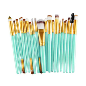 20 pcs Makeup Brush Set tools Make-up Toiletry Kit Wool Make Up Brush Set - Unique Craft World & Dist