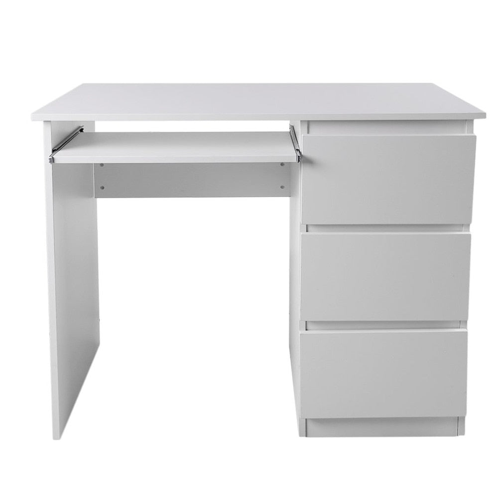 Computer Table Desk PC Table Home Study Office Table Work Desk Workstation Desk Furniture With Keyboard Tray White DX-109 - Unique Craft World & Dist