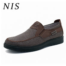 Load image into Gallery viewer, NIS Flat Shoes Men Slip On Casual Loafers Breathable Canves Old Beijing Style Summer Spring Large Size Flats Men Shoes Sneakers