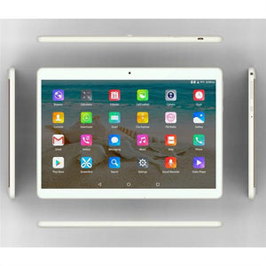 10.1 Inch Tablet PC Dual Sim Phone Pad Tablet PC Phablet with EU Plug (Golden 2+32) - Unique Craft World & Dist