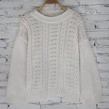 Load image into Gallery viewer, Womens Knitted Long Sleeve O Neck Hollow Out Sweater Ladies Casual Knitwear Top