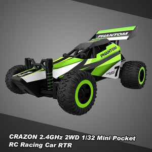 CRAZON 1/32 Mini Pocket RC Racing Car 2.4GHz 2WD RTR Buggy RC Stunt Car Toy - Unique Craft World & Dist