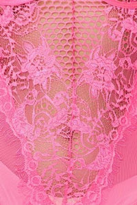 Hot Pink Lace Bodysuit