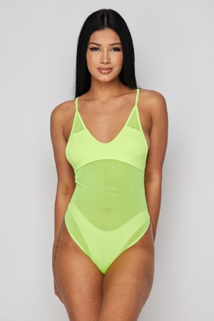 Neon Semi Sheer Bodysuit