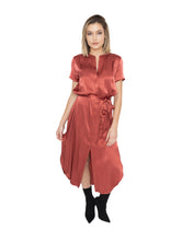 Load image into Gallery viewer, Button Down Satin Dress