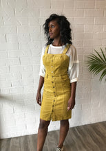 Load image into Gallery viewer, Mello Yellow Corduroy Dress