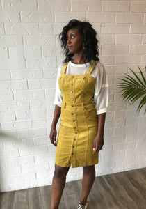 Mello Yellow Corduroy Dress