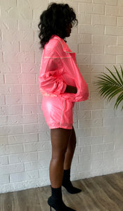 Pink Me Windbreaker Shorts