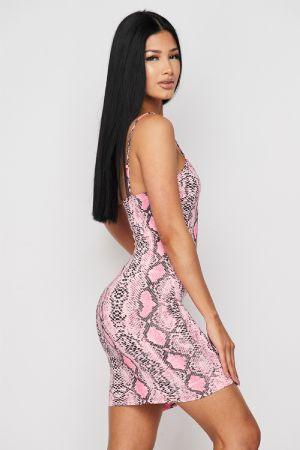 Dree Strappy Snake Dress