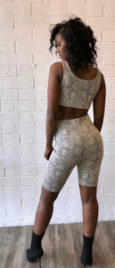 Snake Bite Biker Shorts Set