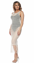 Load image into Gallery viewer, White Crochet Dress